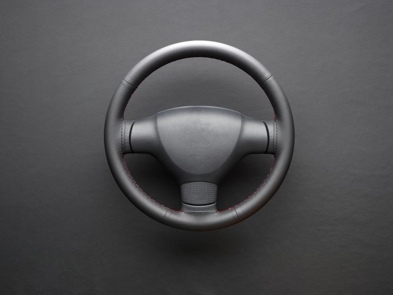 Wollsdorf leather steering wheel