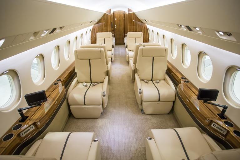 Wollsdorf leather for luxury jet interior