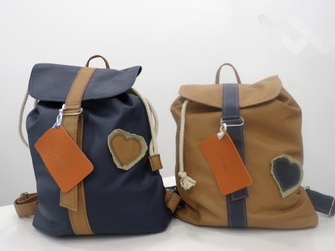Backpacks from leather scraps